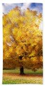 The Golden Tree Beach Towel