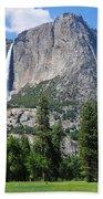 The Grandeur Of Yosemite Falls Beach Towel