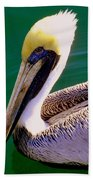 The Happy Pelican Beach Towel