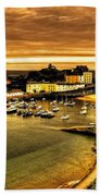 The Harbour At Tenby  Beach Towel