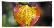 The Heart Of Autumn Beach Sheet