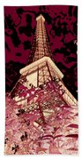 The Heart Of Paris - Digital Painting Beach Towel