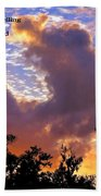 The Heavens Tell Beach Towel