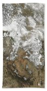 The High Peaks Of The Rocky Mountains Beach Towel by Stocktrek Images