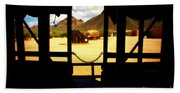 The Hills In Old Tuscon Az Beach Towel