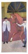 The Horse Mart  Beach Towel by Robert Polhill Bevan
