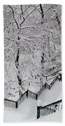 The Hundred Steps In The Snow Beach Towel