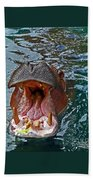 The Hungry Hippo Beach Towel
