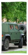 The Iveco Lmv Of The Belgian Army Beach Towel