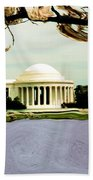 The Jefferson Memorial Beach Towel