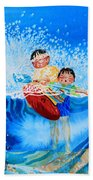 The Kayak Racer 10 Beach Towel