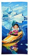 The Kayak Racer 13 Beach Towel