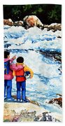 The Kayak Racer 14 Beach Towel