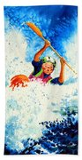 The Kayak Racer 16 Beach Towel by Hanne Lore Koehler