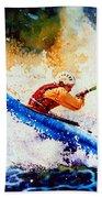 The Kayak Racer 17 Beach Towel by Hanne Lore Koehler