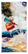 The Kayak Racer 18 Beach Towel