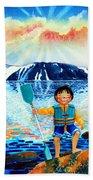 The Kayak Racer 5 Beach Towel