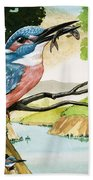 The Kingfisher Beach Towel