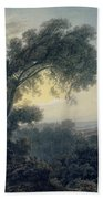 The Lake Of Albano And Castle Gandolfo  Beach Towel