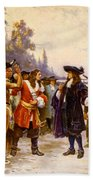 The Landing Of William Penn, 1682 Beach Towel