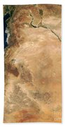 The Lands Of Israel Along The Eastern Beach Towel