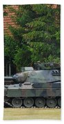 The Leopard 1a5 Main Battle Tank In Use Beach Towel by Luc De Jaeger