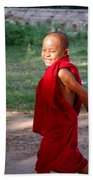 The Little Monk Of Mingun Beach Towel by RicardMN Photography