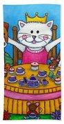 The Little Tea Party Beach Towel by Lisa  Lorenz