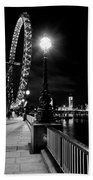 The London Eye At Night Beach Towel