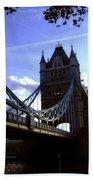 The London Tower Bridge Beach Towel
