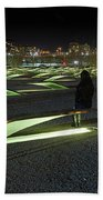 The Lonely Tourist At Pentagon Memorial Beach Towel