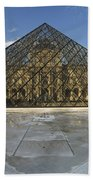 The Louvre Pyramid Paris Beach Towel
