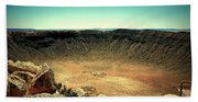 The Meteor Crater In Az Beach Towel