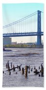 The Mighty Delaware River Beach Towel