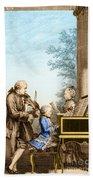 The Mozart Family On Tour 1763 Beach Sheet