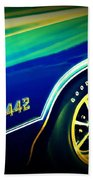 The Muscle Car Oldsmobile 442 Beach Towel