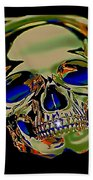 The Music Goes On Forvever Beach Towel