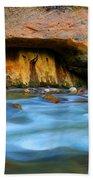 The Narrows Virgin River Zion 4 Beach Towel