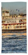 The Natchez Riverboat Beach Towel