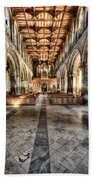 The Nave At St Davids Cathedral 3 Beach Towel