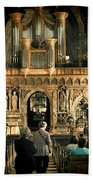 The Nave At St Davids Cathedral Beach Towel