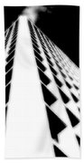 The Office Building Bw Beach Towel
