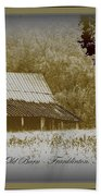 The Old Barn - Franklinton N.c. Beach Towel