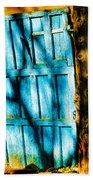 The Old Blue Door Beach Towel