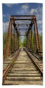 The Old Trestle Beach Towel by Debra and Dave Vanderlaan