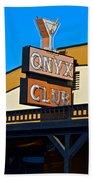 The Onyx Club Beach Towel