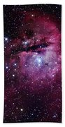 The Pacman Nebula Beach Towel by Robert Gendler