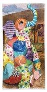 The Patchwork Elephant Art Beach Towel