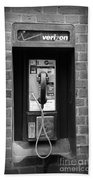 The Payphone - Black And White Beach Towel