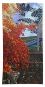 The Playhouse In Fall Beach Towel